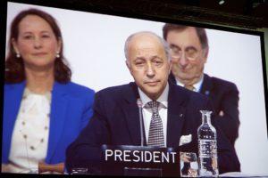 image de Laurent Fabius président de la COP 21